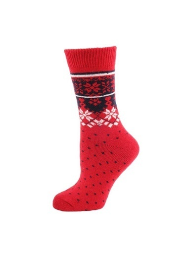 Panthzer  Casual Wool Socks Erkek Çorap Kırmızı Kırmızı